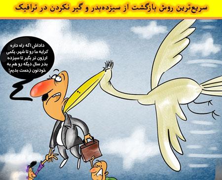 کاریکاتور های طنز روز سیزده به در