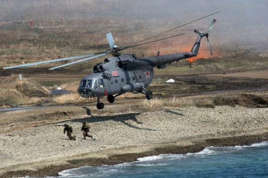 تصاویر دیدنی از مانور تفنگداران دریایی روسیه