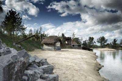 تصاویری از ساختن یک جزیره گنج واقعی