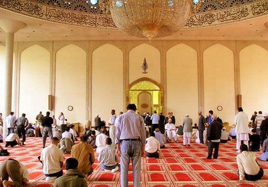 تصاویر مسجد گنبد طلایی در لندن