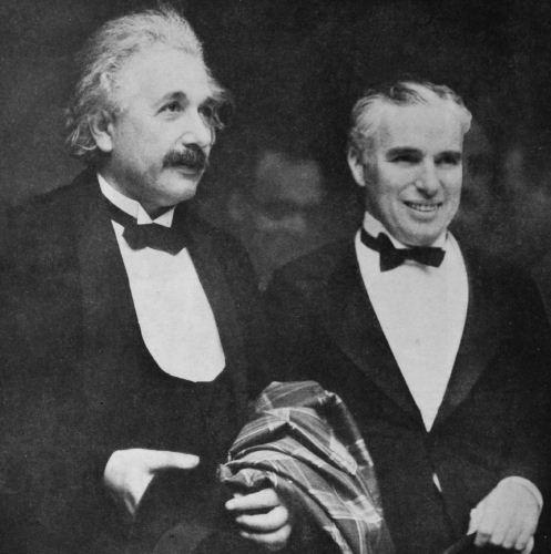 عکس جالب اینشتین و چارلی چاپلین در کنار یکدیگر