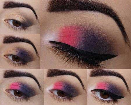 چندین آموزش مرحله ای آرایش چشم