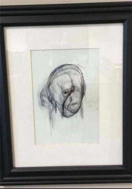 نقاشی که آلزایمر داشت ( عکس)
