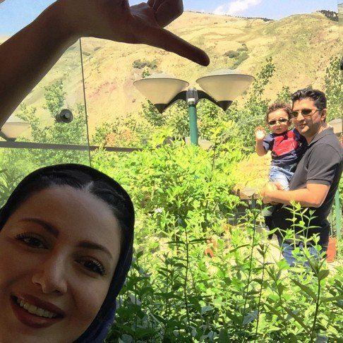 خوشگذرانی شیلا خداداد و خانواده در فشم + عکس