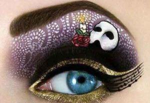 نقاشی های زیبا و دیدنی روی پلک چشم