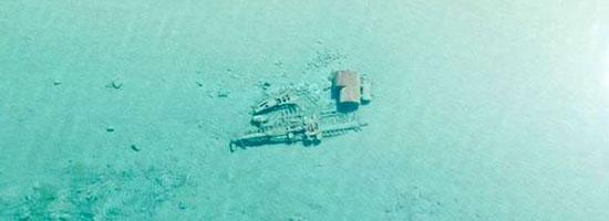 کشتی غرق شده پس از چند دهه ظاهر شد + عکس