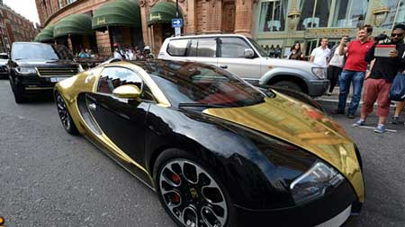 تصاویری از ماشین های گران قیمت عرب ها در لندن