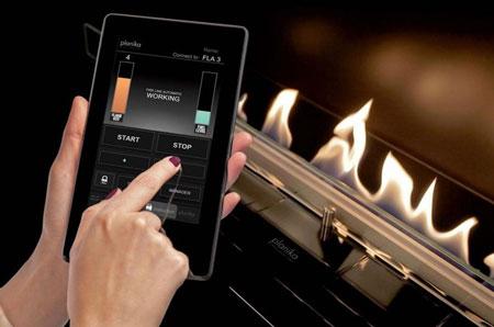 شومینه هوشمند با کنترل تلفن همراه!