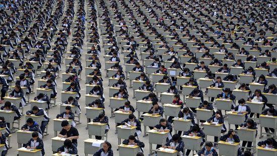 صف آرایی بی نظیر و دیدنی چینی ها (عکس)