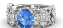 مدل انگشترهای زیبای زنانه با نگین های آبی رنگ