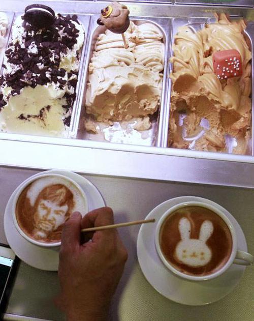 نقاشی صورت شما در فنجان قهوه + تصاویر