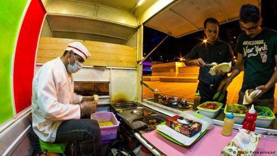 فلافل فروشی سیار در شیراز + تصاویر