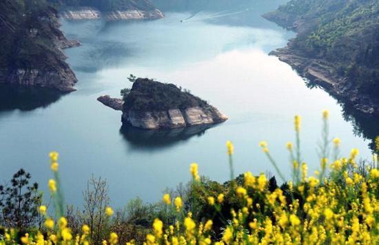 جزیره لاکپشت که در بهار ظاهر می شود + تصاویر