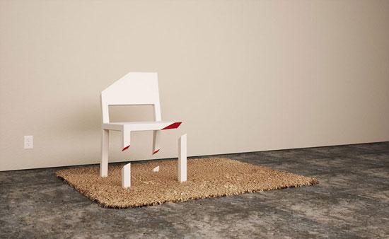 خلاقیت های عجیب بر روی صندلی (تصویری)