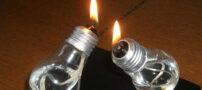 آموزش ساخت چراغ نفتی با لامپ سوخته