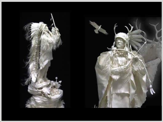 باورتان می شود این مجسمه های زیبا کاغذی باشند؟