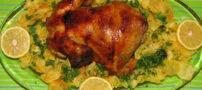 آموزش طرز تهیه مرغ شکم پر با طعم سیب