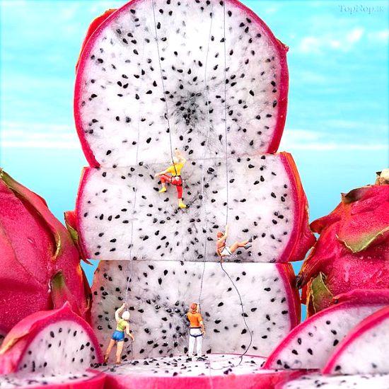 عکس هایی دیدنی از میوه آرایی مینیاتوری