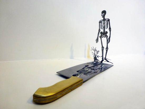 آثار هنری چاقو برای هشدار به جهان + تصاویر