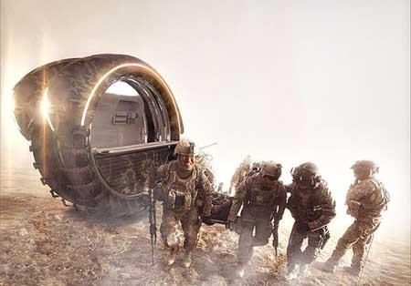 طراحی جدیدترین آمبولانس نظامی + تصاویر