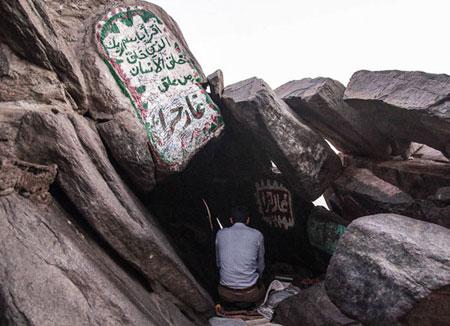 تصاویر زیبا و آشنایی با غار حراء در کوه نور