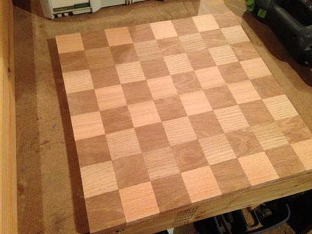 آموزش ساخت صفحه شطرنج چوبی