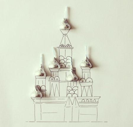 ترکیب جالب و طنز نقاشی و اشیا