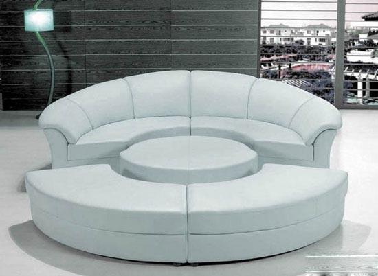 مبل و کاناپه های گرد برای دکوراسیون داخلی