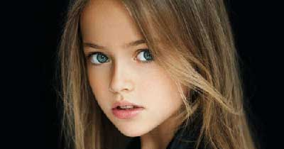 کریستینای 8 ساله، نهمین سوپر مدل برتر دنیا + تصاویر