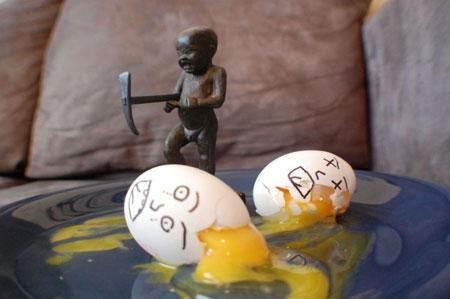 عکس های بامزه و دیدنی از نقاشی تخم مرغ ها