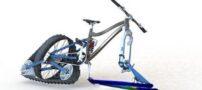 با این فناوری روی برف دوچرخه سواری کنید!
