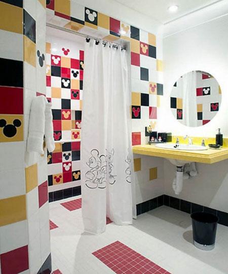 مدل پرده های حمام بچه گانه زیبا و شیک