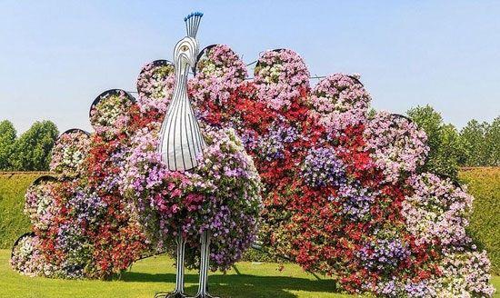 عکس های دیدنی از زیباترین باغ گل جهان در دبی
