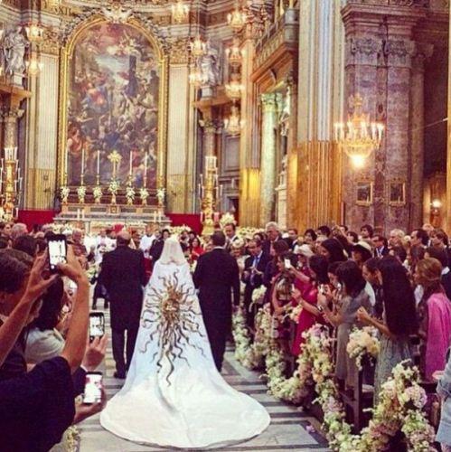 مراسم ازدواج میلیاردر نفت با طراح لبنانی + تصاویر