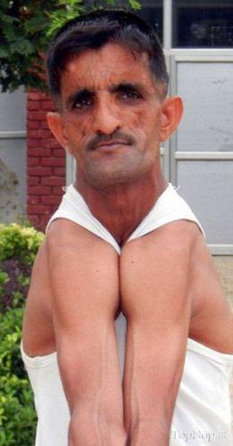 تصاویر جالب و دیدنی از مرد لاستیکی