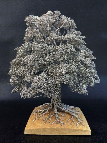 ساخت درختان زیبای مینیاتوری از جنس سیم