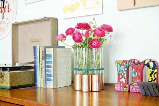 آموزش درست کردن گلدان با پایه های طلایی