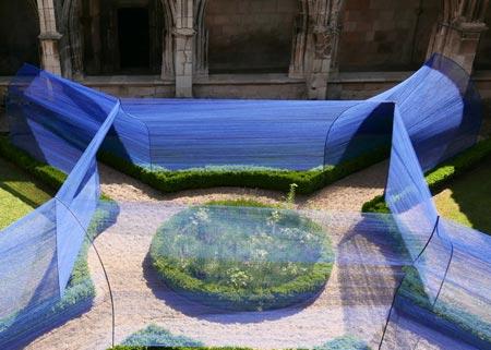 تونل زیبا و خلاقانه که از نخ ساخته شده + تصاویر