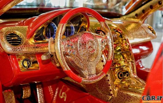 مرسدس بنز ساخته شده از طلا + تصاویر