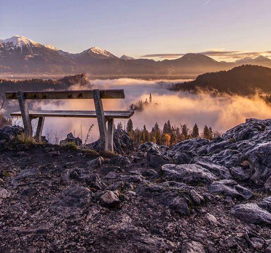 عکس های بی نظیر طلوع خورشید در دریاچه بلد