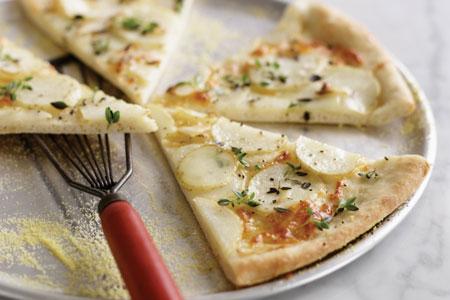 آموزش پخت پیتزا سیب زمینی و پنیر