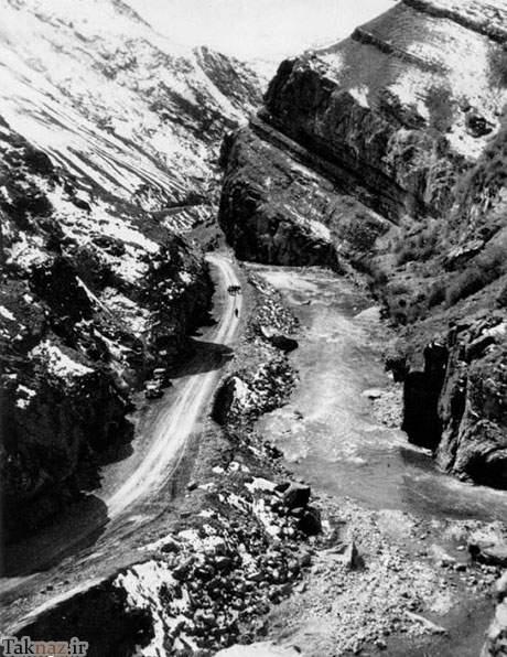 عکس های قدیمی ساخت جاده چالوس