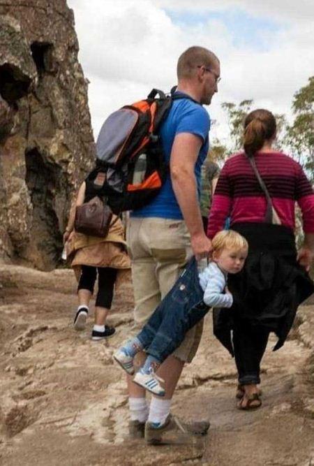 تصاویر جالب از پدرانی که معنی احساس مسئولیت را نمی فهمند