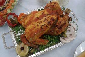 آموزش درست کردن مرغ شکم پر با طعم سیب