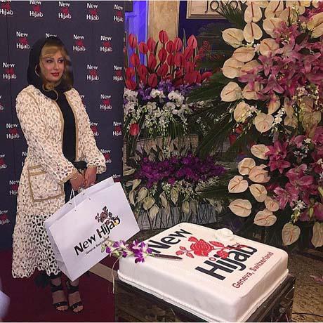تصاویر دیدنی از بازیگران در افتتاحیه برند نیو حجاب