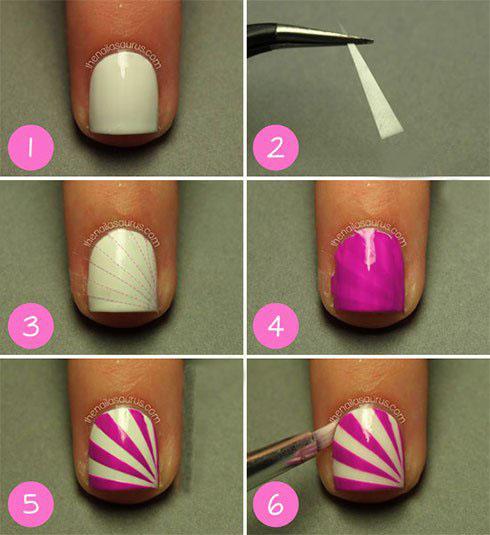 آموزش تصویری طراحی زیبای ناخن کوتاه