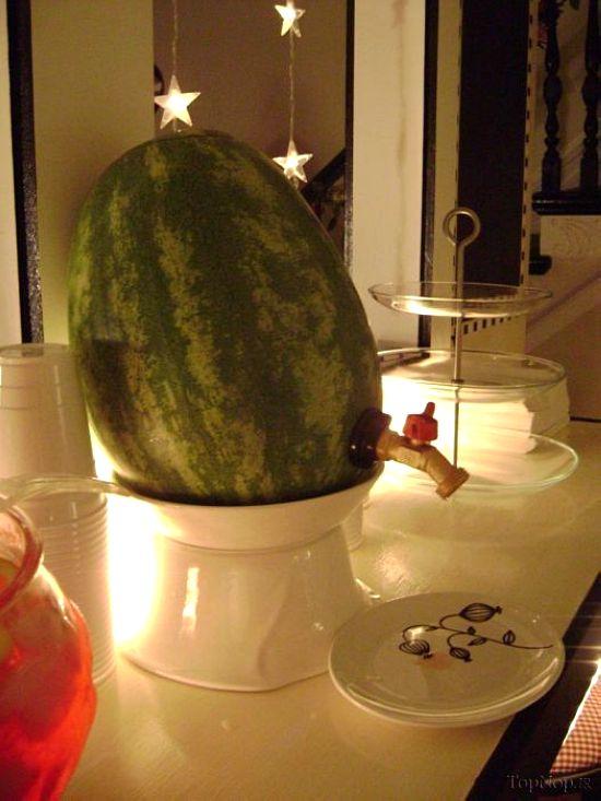 عکس هایی خنده دار از ساخت سماور با هندوانه