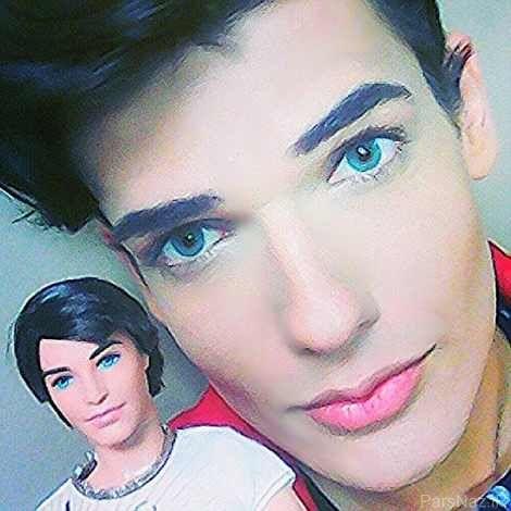 چهره جالب پسر عروسکی