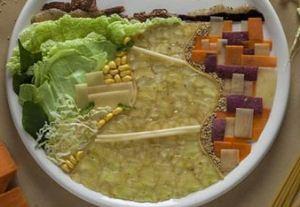 تزئینات زیبا و خلاقانه روی سبزیجات و خوراکی ها