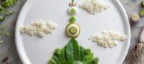 تزئینات جالب یک هنرمند روی مواد غذایی و سبزیجات
